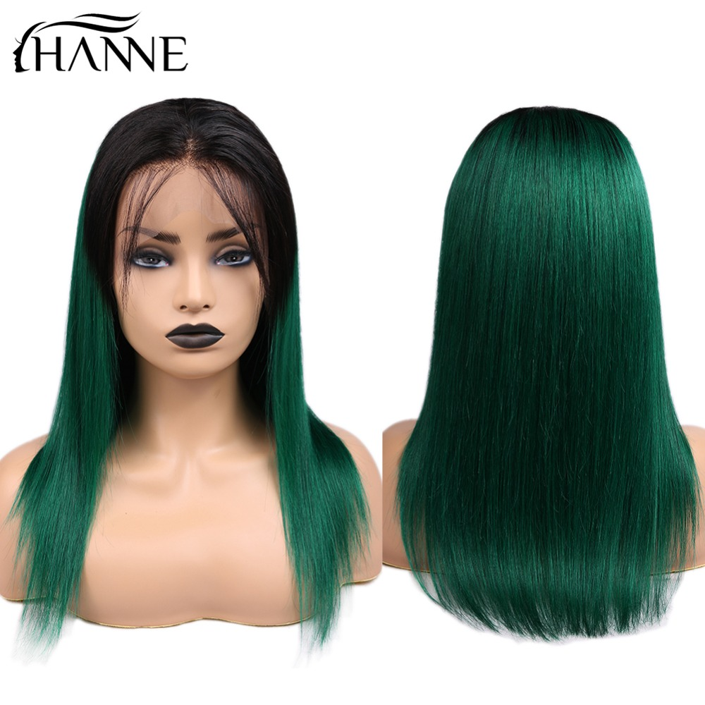 Straight Human Hair 13*4 Frontal Wigs With Baby Hair Pre-Plucked Natural Hairline Brazilian Hair Wig For Black Women Free Shipp