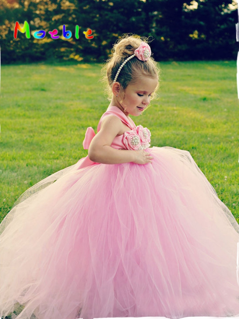 Online get cheap child bridesmaid dresses pink aliexpress flower girl tutu dresses wedding easter junior bridesmaid soft pink princess girl dress children clothes for ombrellifo Images