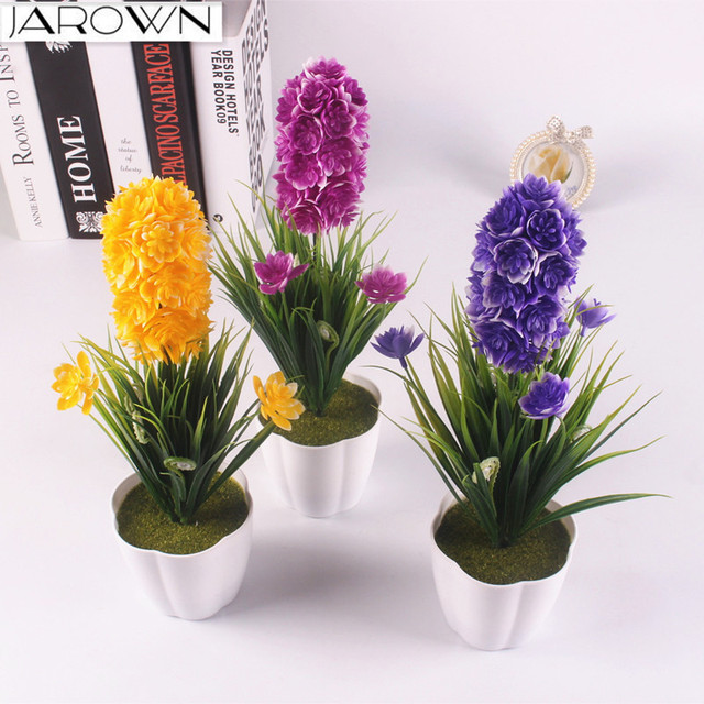 artificial flower plastic plant potted bonsai diy colorful fake