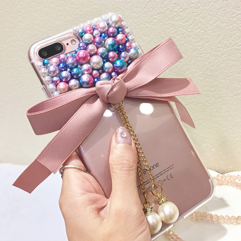 For Xiaomi Mi A1 5x A2 6x 8 Se Redmi Note 4 4x 5a Prime 5 Plus Pro S2 Y2 6a 6 Glitter Rhinestone Bow Pearl Phone Case Soft Cover Easy To Repair