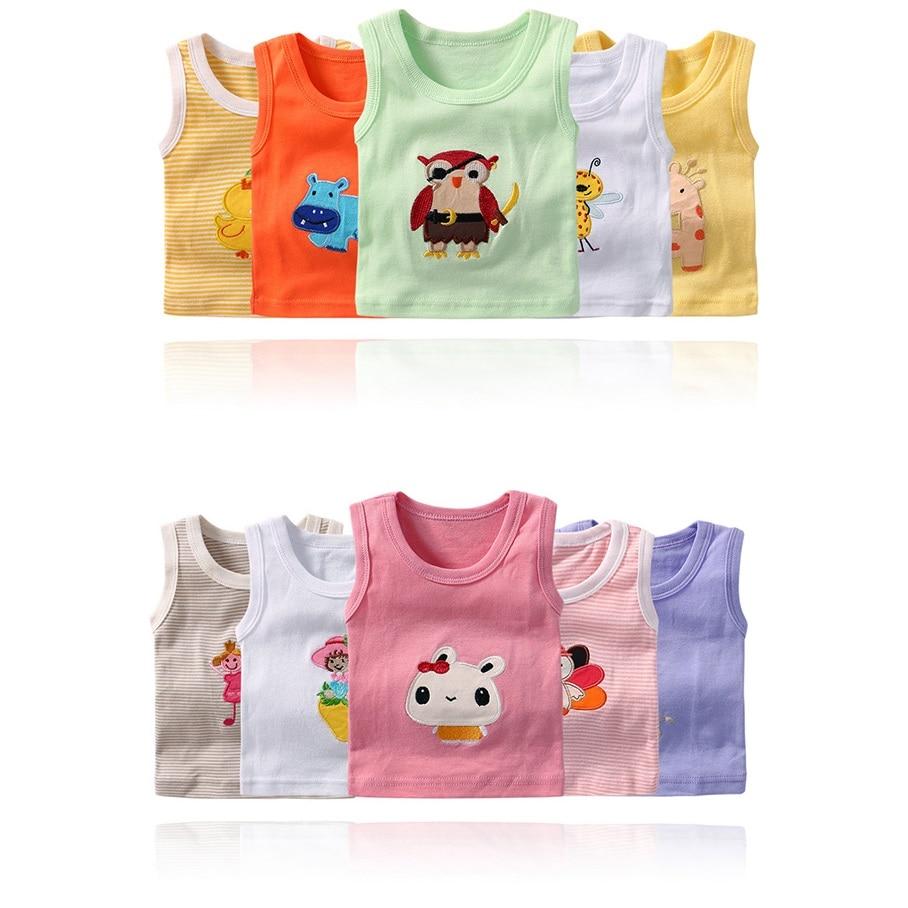 HTB13 6.QHvpK1RjSZFqq6AXUVXa5 2020 Summer Baby Boy s Sleeveless Girls Vest Tanks Camisoles Newborn Undershirts Children T-Shirt Cotton Tee Shirts 0-3Y