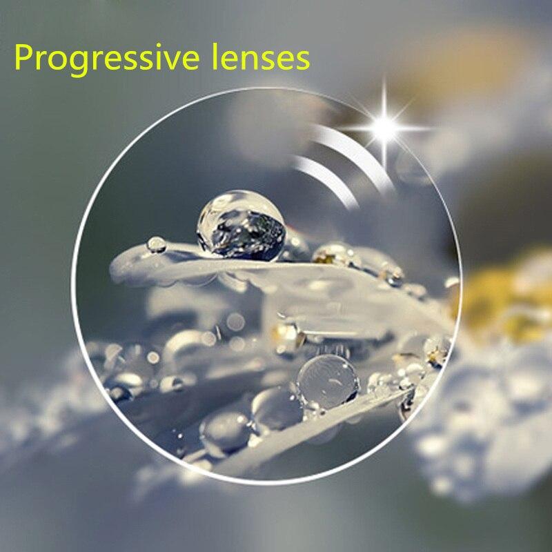 Lentilles asphériques de verres de résine de lentille de Prescription Progressive d'anti rayons bleus pour la lentille de lunettes de myopie/hyperopie/presbytie