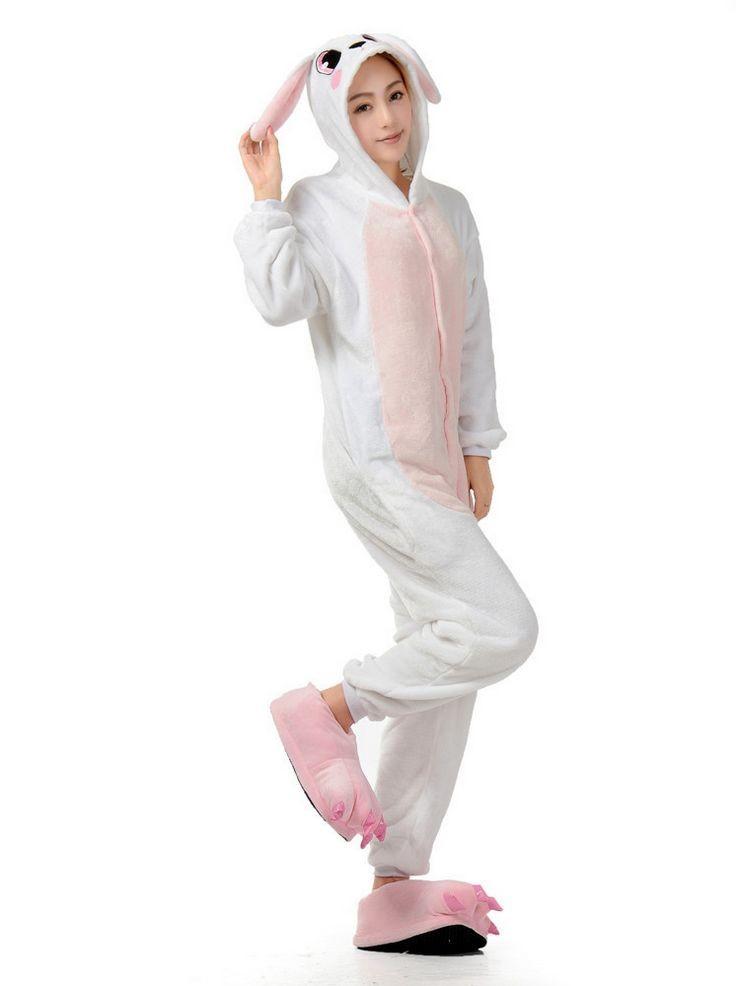 57ea1fbb87 Conjunto de pijama Pigiama conejo Rosado de La Manga Completa Con ...