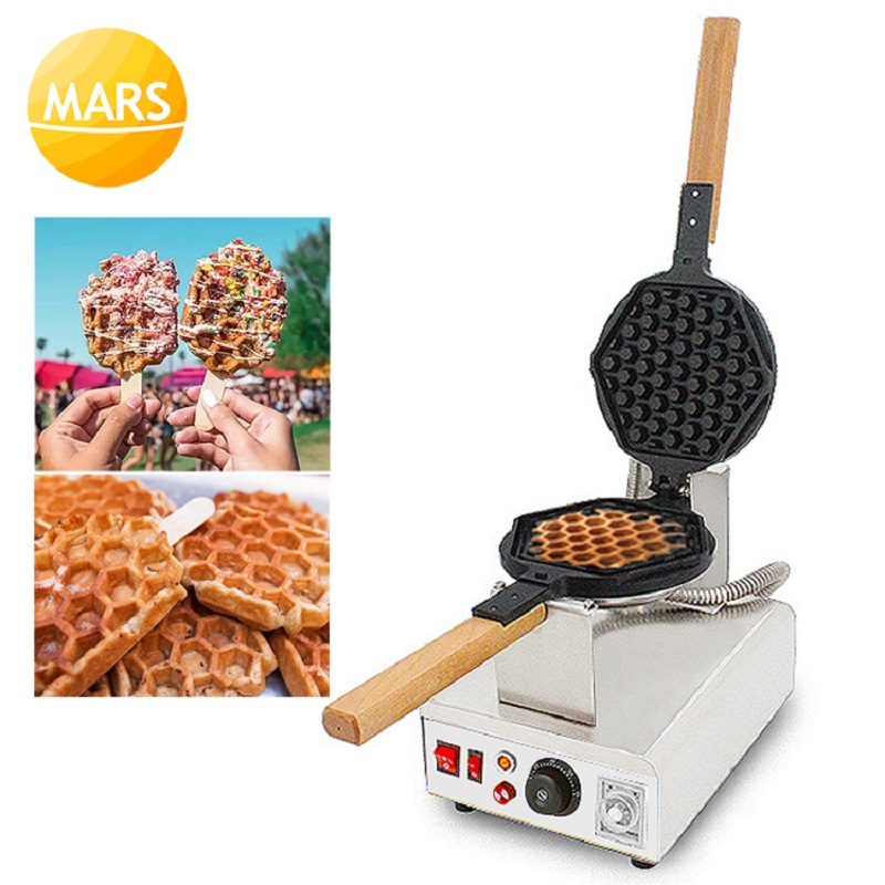 Mars Rotary Waffle Pops Machine 220v 110v Electric Honeycomb Shape Egg Waffles Sticks Maker Iron Baker-in Waffle Makers from Home Appliances    1