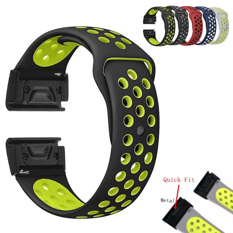 22MM Silicone Band for Garmin Fenix 5/Quatix 5/Forerunner 935/Approach S60 Replacement Watchband Belt Quick Fit Bracelet Strap купить недорого в Москве