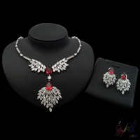 Yulaili high quality zircon stones jewellery set anniversary Jewelry Sets Wholesale expensive gifts
