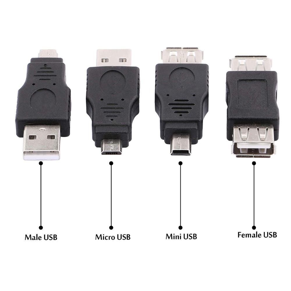 Image 4 - 10PCS Male to Male Female 5 Pin Mini Micro USB Extension Connector for Data Syncing Charging PC Laptop Tablet Notebook Smartphon-in Computer Cables & Connectors from Computer & Office
