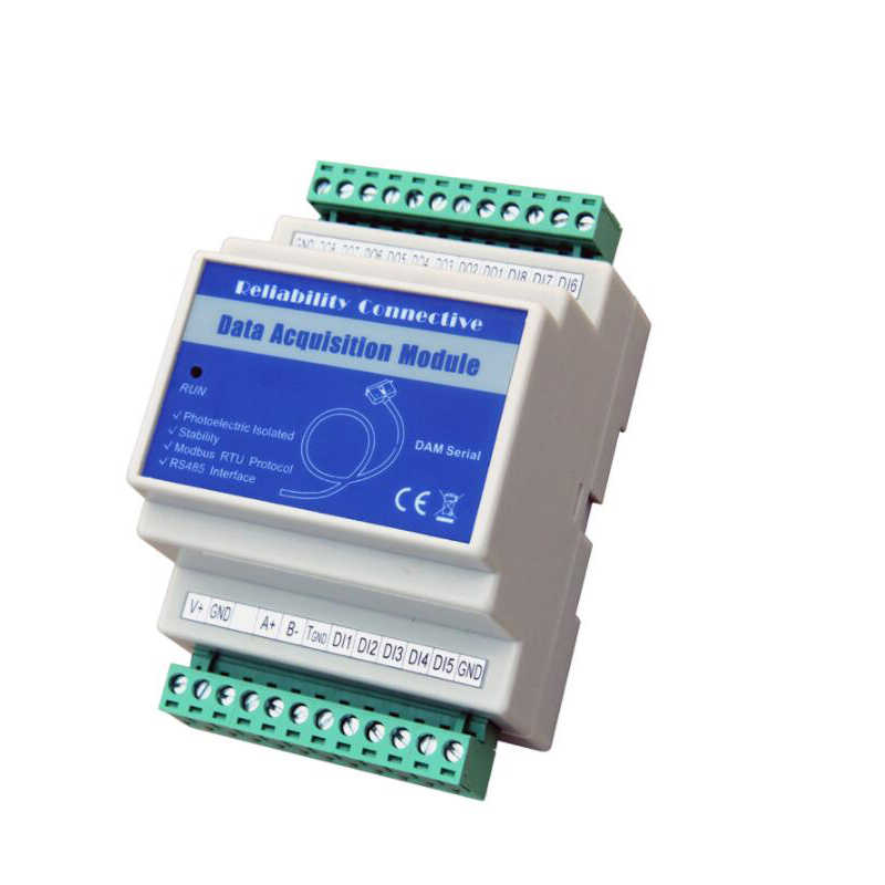 16 Analog Input Module(0~20mA,4~20mA,0~5V,0~10V) supports Modbus RTU Protocol over RS485 serial port DAM140