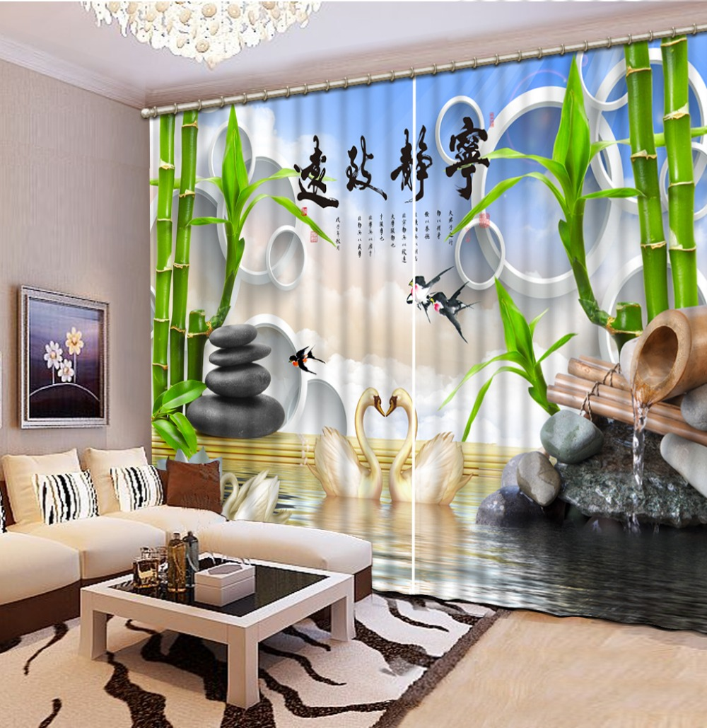 customize 3d blackout curtains Jiangnan scenery landscape curtains for living room kitchen curtains modern curtainscustomize 3d blackout curtains Jiangnan scenery landscape curtains for living room kitchen curtains modern curtains