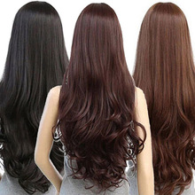 Women Fashion Lolita Curly Wavy Long Full Wig Heat Resistant Cosplay Party Hair