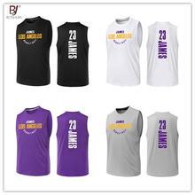 aaa07c9d BONJEAN дизайн 23 Леброн Джеймс Лейкерс трикотаж одежда высшего качества  форма Спорт Баскетбол трикотаж s дышащий