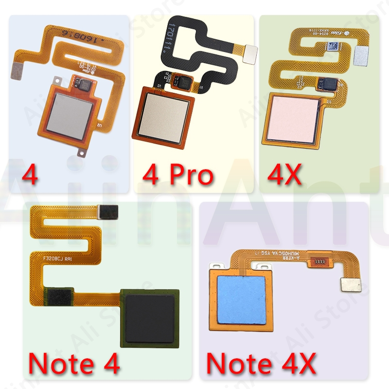 Original Back Home Button Fingerprint Sensor Flex Cable For Xiaomi Redmi Note 4 4x Global Pro Fingerprint Sensor Flex