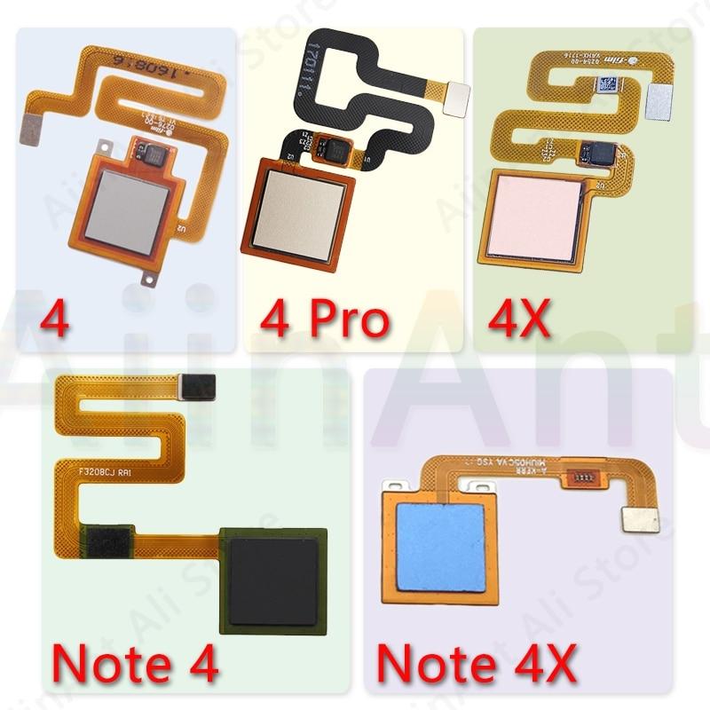 Original Back Home Button Fingerprint Sensor Flex Cable For Xiaomi Redmi Note 4 4x Global Pro Fingerprint Sensor Flex