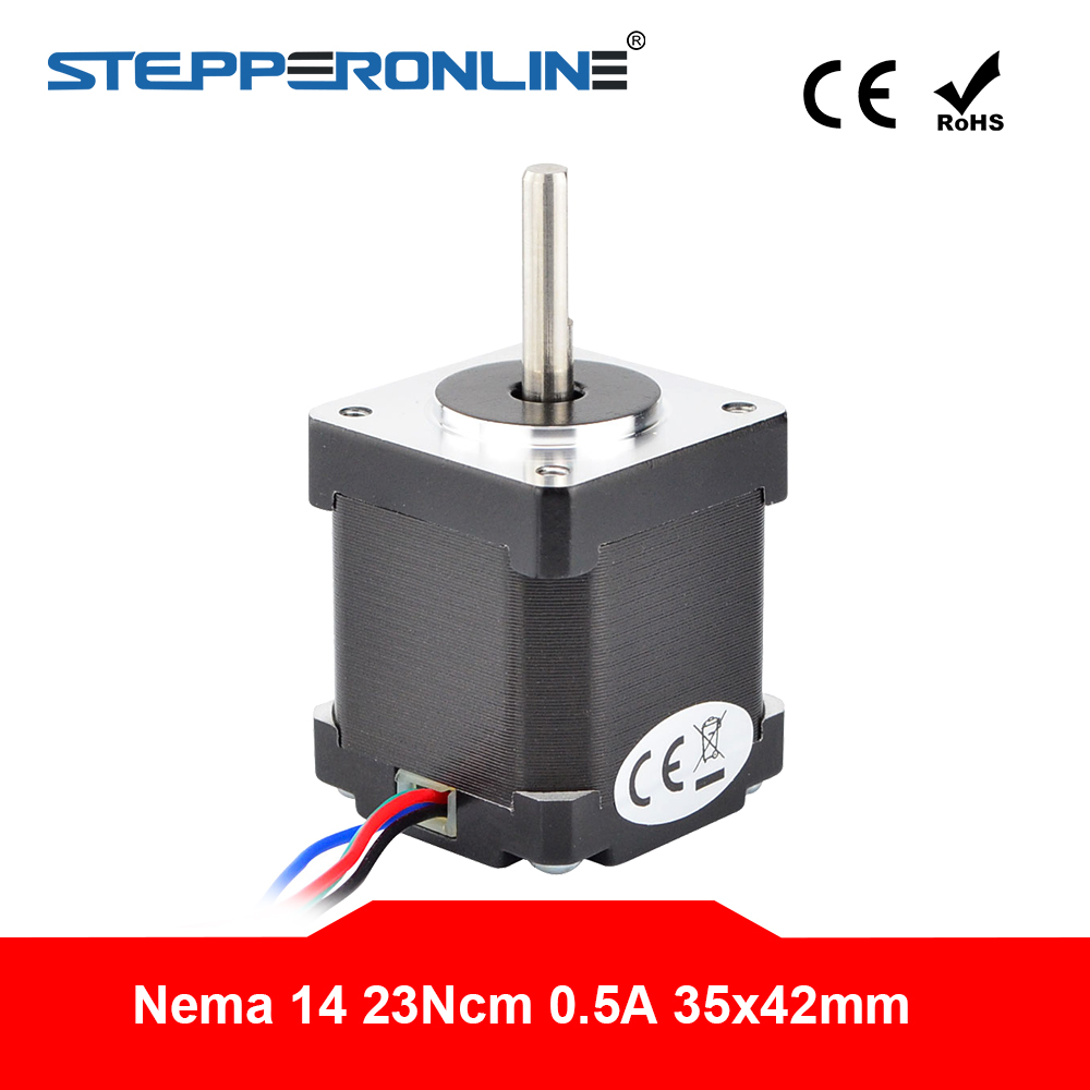 Nema 14 Stepper Motor 42mm 23Ncm(32.6oz.in) 0.5A 4-lead Nema14 Step Motor For DIY CNC 3D Printer Motor