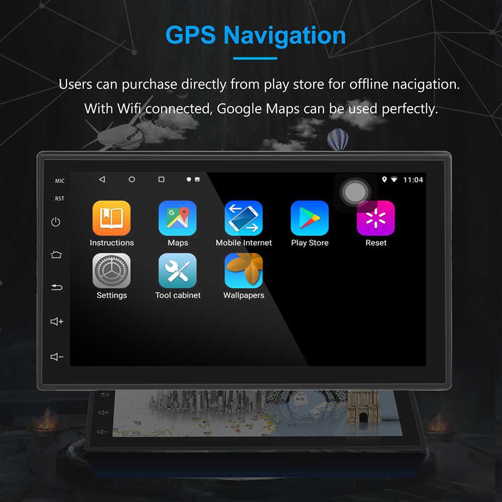 "2G + 32G Universal 2Din Android 8,1 coche Radio RDS universal GPS 1024x600 Wifi BT FM enlace espejo la Unidad 7 ""Multimedia ISO"