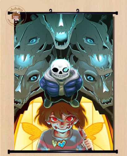 Undertale Sans Anime HD Canvas Print Wall Poster Scroll Home Decor Cosplay