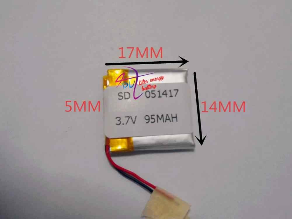 Batería de polímero de litio de alta calidad 051417 baterías industriales batería de auriculares Bluetooth 95 mAh 3,7 v