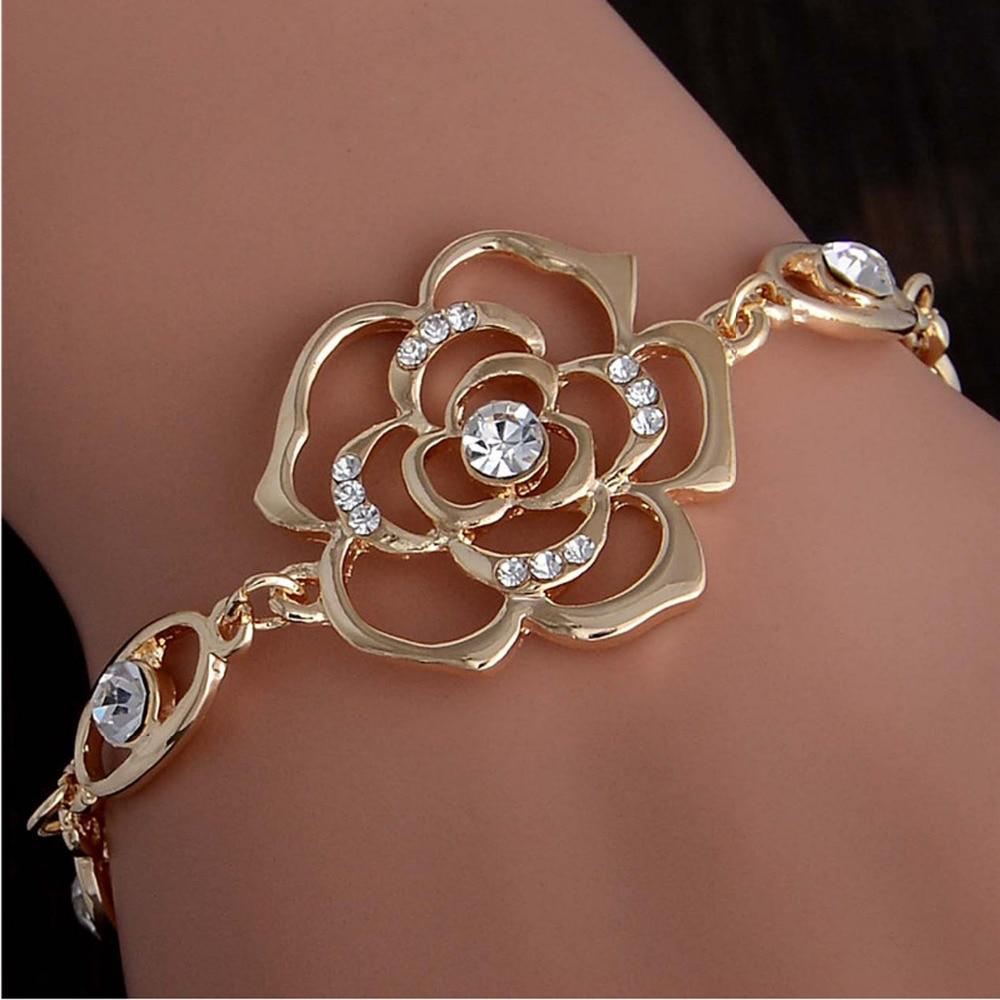 Chain Bracelet Womens: Aliexpress.com : Buy Hot 1pc Gold Plated Austrian Crystal