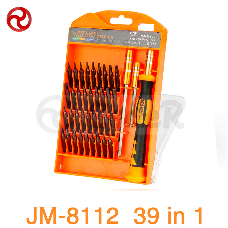 JAKEMY 39 in 1 Screwdriver Set Householder iPhone Laptop Computer Precision Electronic Repairing Tools Magnetic Screwdriver Kit