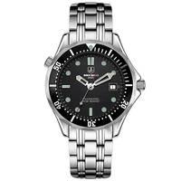 SEKARO Suíça relógios homens marca de luxo relógio mecânico automático militar à prova d' água luminosa James Bond 007 relógios preto