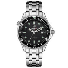 SEKARO Switzerland watches men luxury brand automatic mechanical watch military waterproof luminous James Bond 007 watches black
