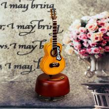 Rocking Guitar Violin Music Box Clockwork Type Rotation Music Box Creative Gift Birthday Gifts for Girl Friend Kids Music Bells