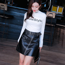 2020 New Fashion Real Genuine Sheep Leather Skirt G11