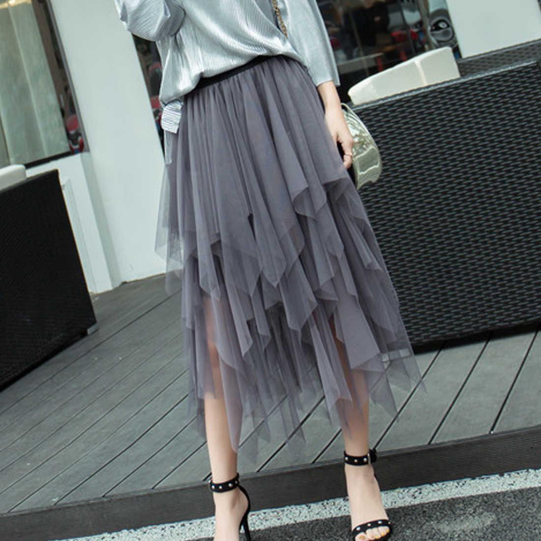 457602e28 Detalle Comentarios Preguntas sobre Irregular de tul, falda, mujer ...