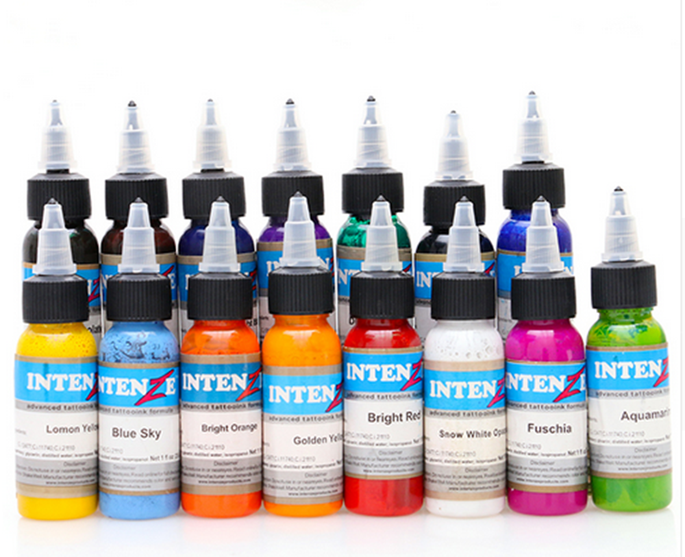 New 14pcs tattoo ink set permanent makeup art pigment 30ml tattoo paint for eyebrow eyeliner lip body total 14 colors 35000r import permanent makeup machine best tattoo makeup eyebrow lips machine pen