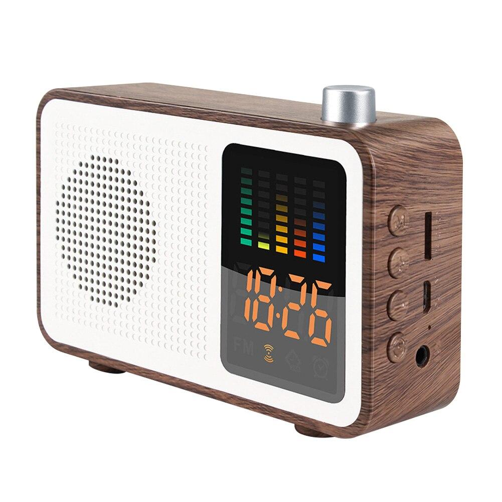 Home Decoration FM Radio Bluetooth Speaker Stereo Modern Alarm Clock Digital Retro USB Charging Multipurpose Wireless Bedroom(China)