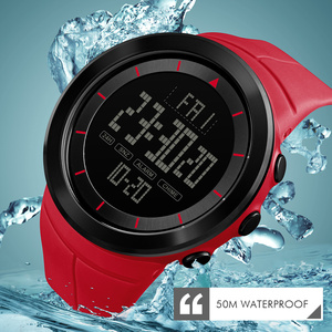 Image 5 - 2018 SKMEI Mens Sports Watches Fashion LED Digital Watch Men Waterproof Military Wrist Watches For Men Clock Relogio Masculino