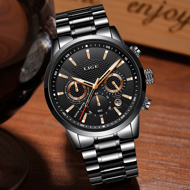 Mens watches To Luxury Brand business Quartz Watch Men Military Sports Waterproof Dress Wrist watch 2