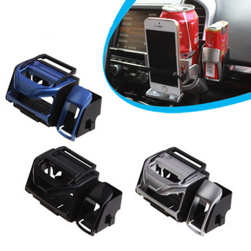 Car Drinks Holders Cigarette Box Debris Storage Bin Mobile Phone Stand Outlet Cup Support Auto Air Vent Foldable Buckle Bracket