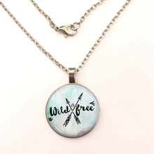 YSDLJG Wild & Free Friendship Cabochon Charm Pendant Necklace Jewelry Birthday Gift High Quality Necklaces