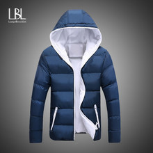 Bomber Jassen Mannen 2018 Winter Casual Uitloper Windbreaker Jaqueta Masculino Slim Fit Hooded Warme Jas Fashion Overjassen Homme(China)