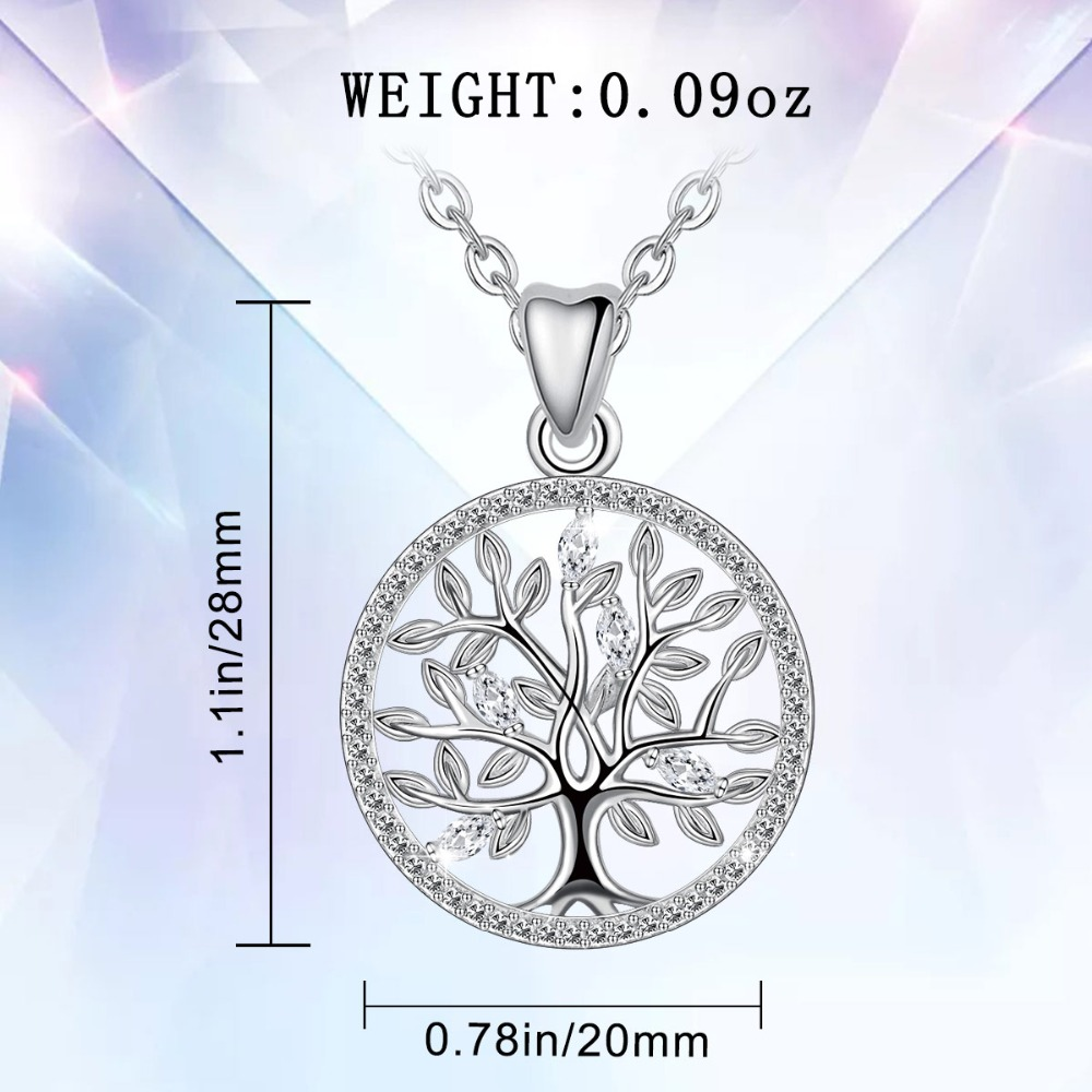 Jewelry Trends Sterling Silver Large Celtic Tree of Life Pendant on 20 Inch Box Chain Necklace