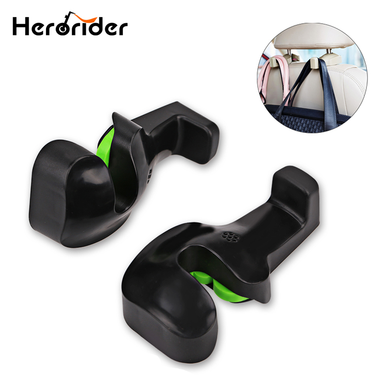 Automobiles & Motorcycles Herorider 2pcs Car Back Seat Headrest Holder Auto Hanger Hooks Clip For Purse Bag Cloth Grocery Automobile Interior Accessories Reasonable Price Interior Accessories