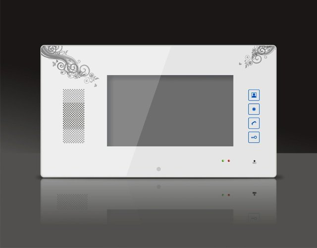 Video Door Phone Intercom - 7inch Color TFT LCD Handfree Doorbell Monitor with Touch Button