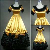 [La MaxPa] Custom Made Robe Victorienne Summer Dress Lolita Long Gothic Dress Plus Size