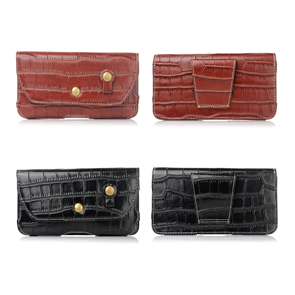 Case For Sony Xperia C4 Horizontal Waist Holster Bag crocodile texture flip phone bag For Sony Xperia C4 Dual/C3/C3 Dual Case