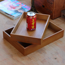 1PC 3 Size Bamboo Square Tray Pallet Bread Plate Fruit Snack Cake Pan JL 002