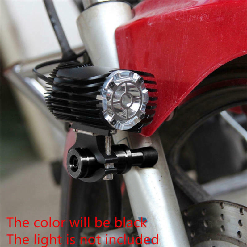 Adjustable 2 Sets Of M6 Bolt Head LED Light Mounting Brackets Bar Support Black Aluminum Alloy Motorcycle Useful