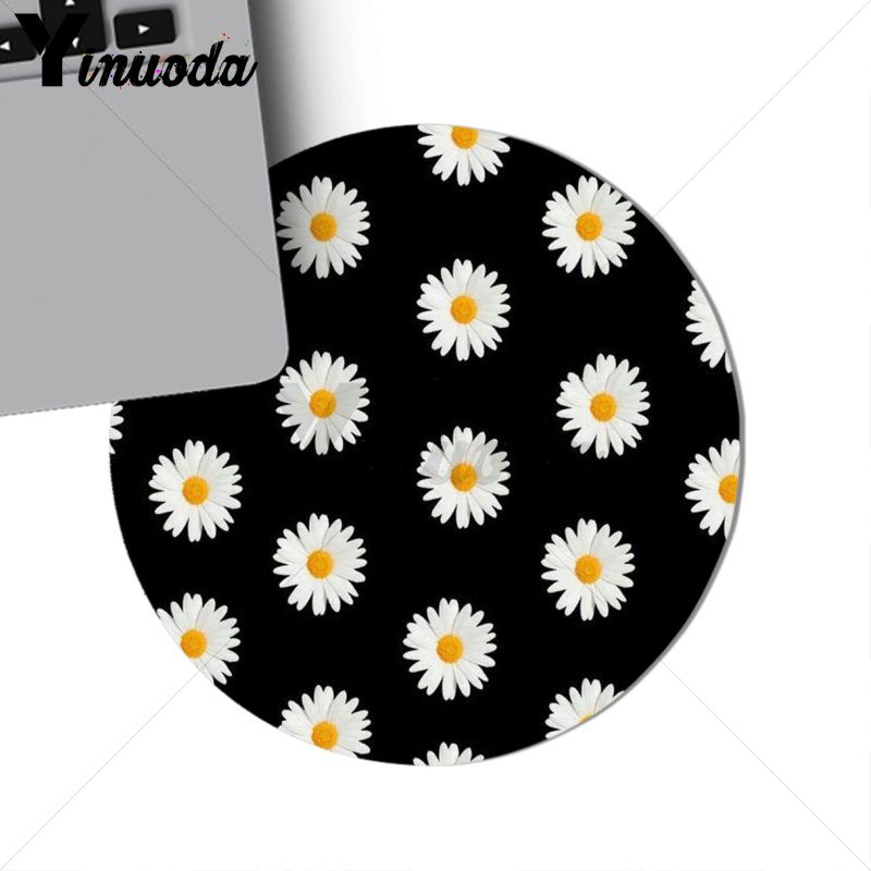Yinuoda Top Quality daisy Computer Gaming Lockedge Mousemats Size for 20*20cm 22*22cm round mousepad Rubber Rectangle Mousemats