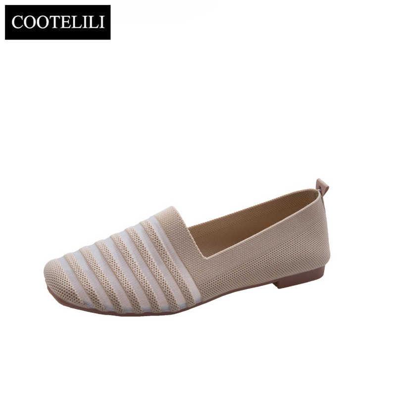 COOTELILI Platte Schoenen Toevallige Instappers Dames Oxfords Vrouwen Schoenen Flats Slip op Hollow