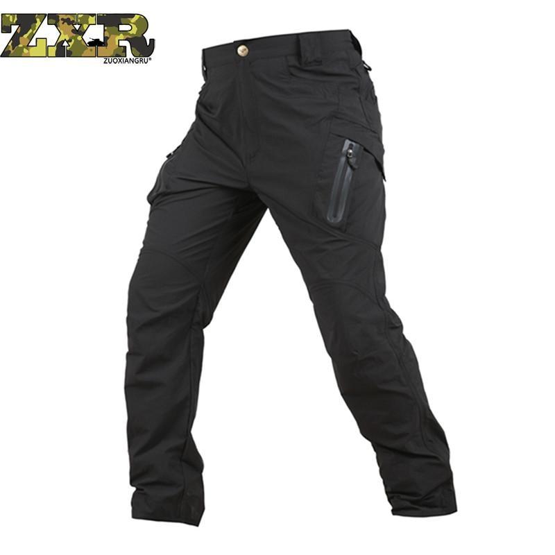 Praktisch Tactical Cargo Hosen Männer Kampf Swat Camo Army Military Hosen Baumwolle Viele Taschen Stretch Flexible Mann Casual Hosen QualitäT Und QuantitäT Gesichert Jungen Kleidung
