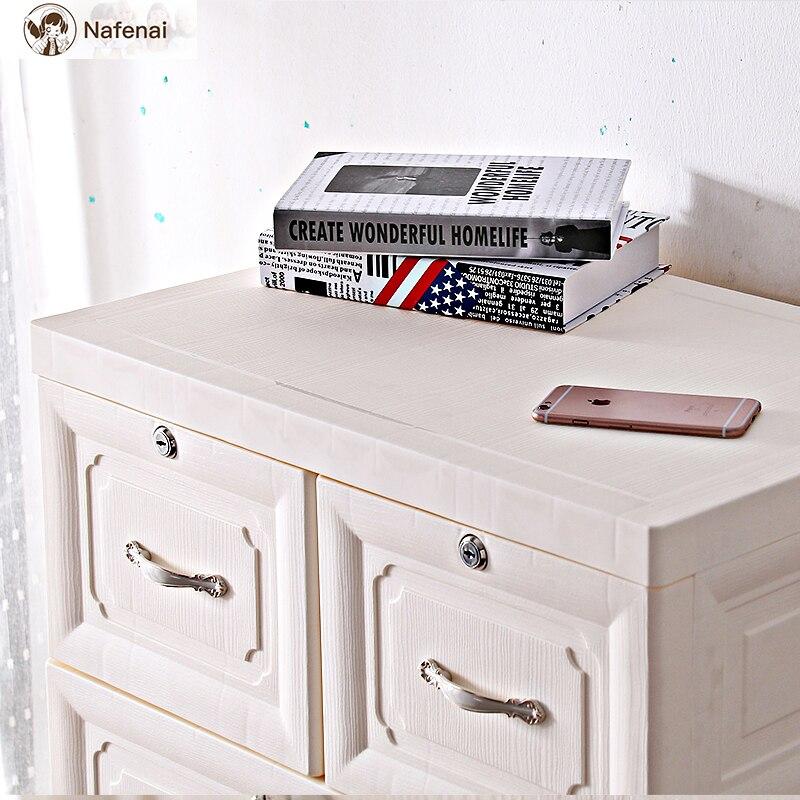 Style européen commode en plastique rangement organisateur boîte armoire meubles de ménage bureau rangement boîte de rangement grand - 6