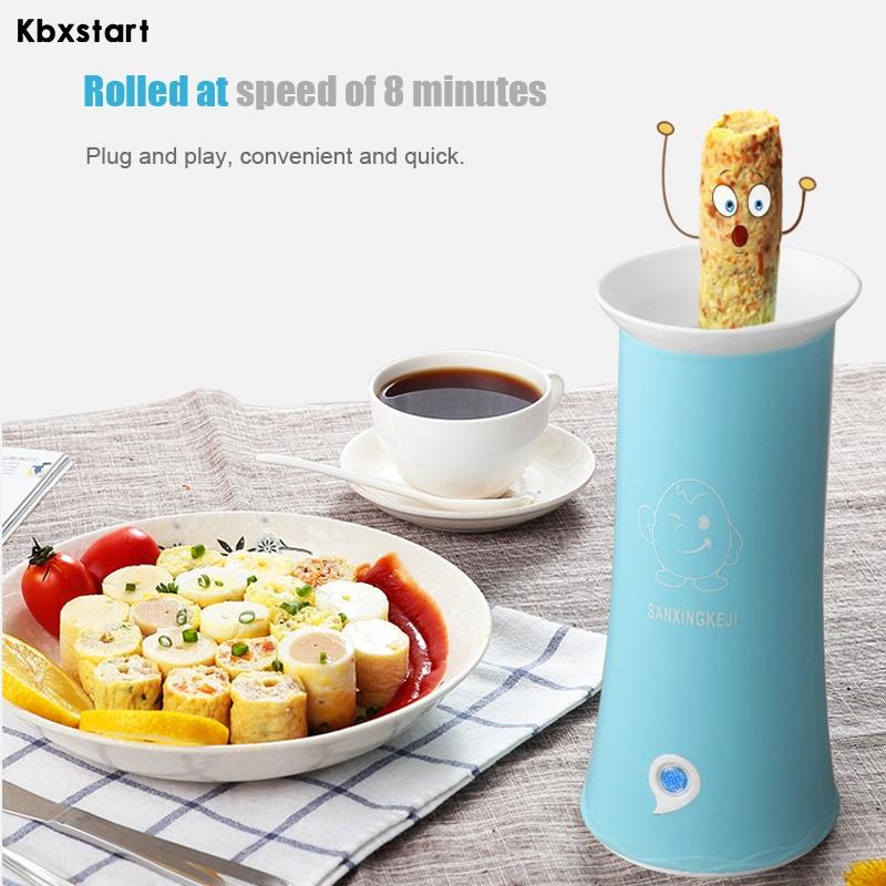 Ev Aletleri'ten Yumurta Kaynatıcıları'de Kbxstart otomatik çok fonksiyonlu Mini yumurta rulo makinesi kahvaltı yumurta kaynatıcı ana sosis makinesi mutfak soğutma yumurta pişiricisi title=