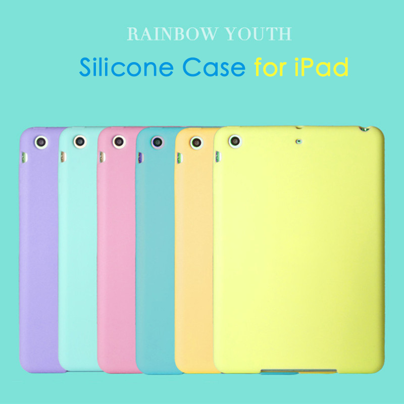 Tablet Silicone Case for iPad 2018 2017 9.7 Air 2 Case Soft Shockproof 360° Protection Back Shell Cover for iPad mini 2 3 4 Case image