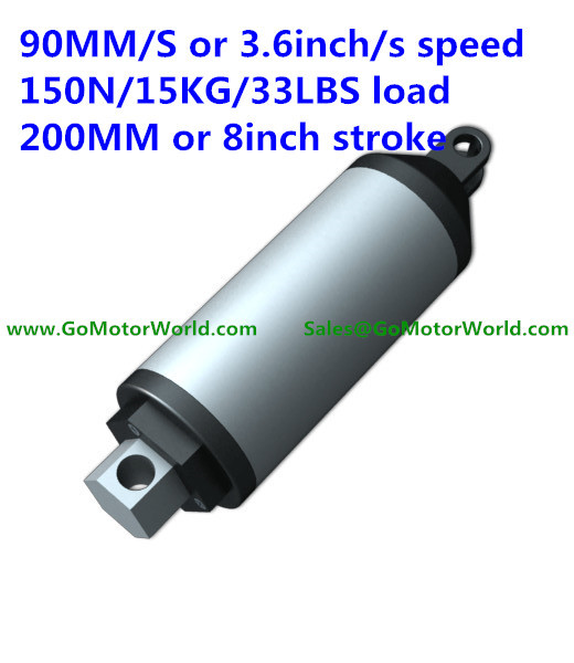 все цены на  90mm/sec 3.6inch/sec speed 150N 15KG 44LBS load force 200mm 8inch stroke 12V or 24V DC High speed linear actuator LA13  онлайн