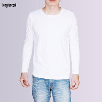 Spring Autumn Fashion Brand O Neck Loose Long Sleeve T Shirt Men Trend Casual Mens T